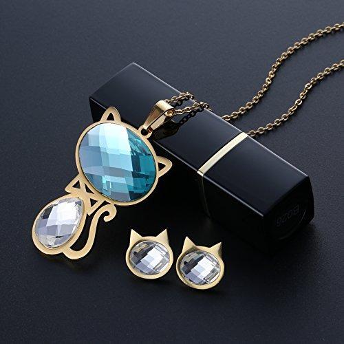 21328ca214e1 Carsinel 18k Oro Para Joyería De Moda Collar De Mujer Juego ...