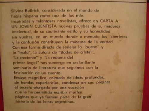 carta a un joven cuentista, silvana bullrich