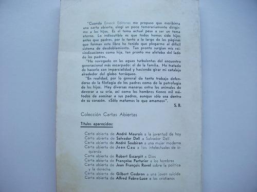 carta abierta a los hijos - silvina bullrich - emecé