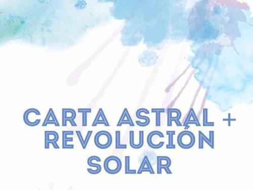 carta astral y revolución solar // precio especial