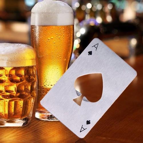 carta baralho abridor de garrafa / poker inox cerveja