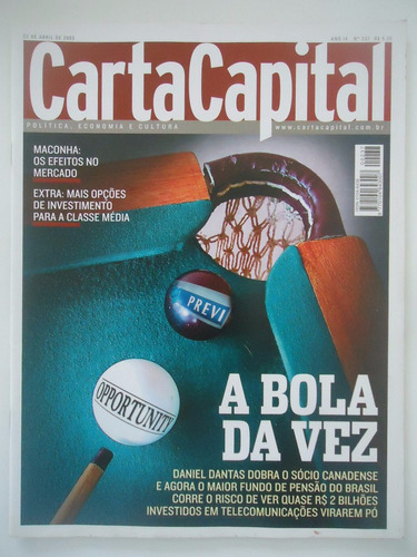 carta capital #237  daniel dantas - ano 2003
