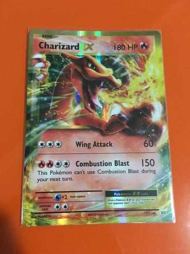 carta charizard ex 12/108 xy12 evolutions + sleeve
