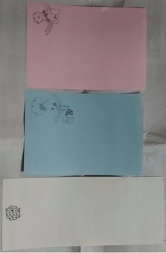 carta coleção papeis