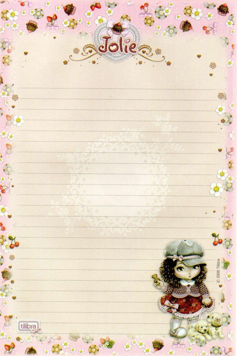 Papel de carta lote com 3 pap is de carta jolie - Escritorio para escribir ...