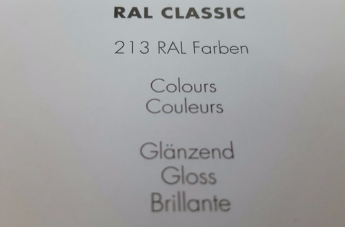 carta de colores ral k7 classic gloss tipo pantone