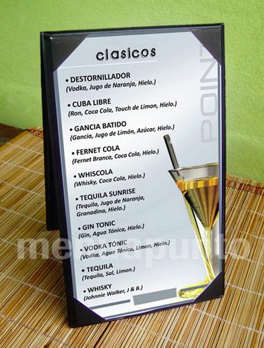 carta de menu | exhibidor de mesa triangulo / carpita |stock
