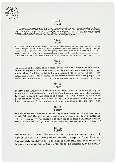 carta de ojo prestige medical jaeger  0 60 onza