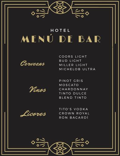carta de precios para restaurante o comercio