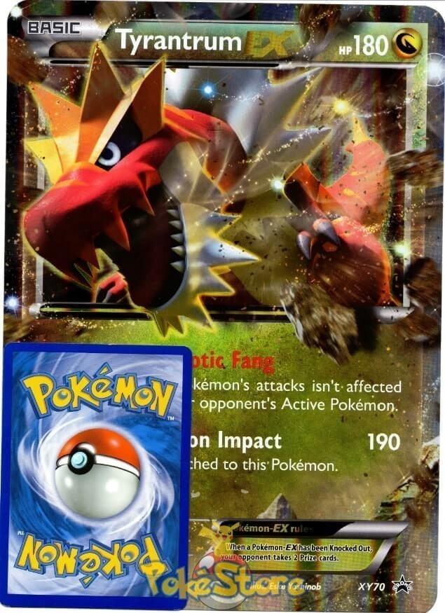 Carta Gigante Pokemon Tyrantrum Ex Card Original Copag Jumbo