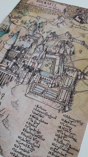carta hogwarts personalizada+boleto+mapa+sello harry potter