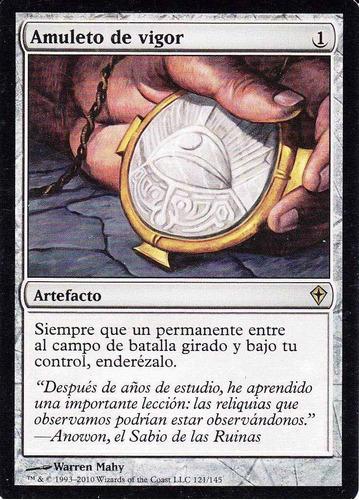 carta magic amuleto de vigor