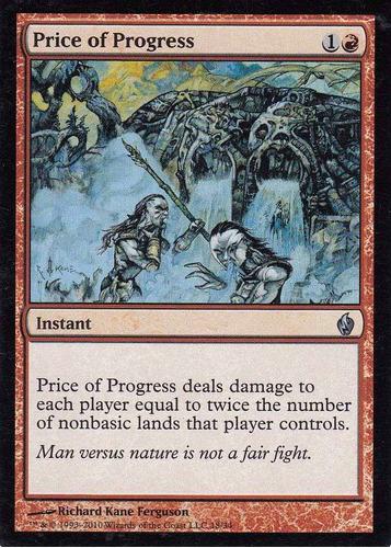 carta magic price of progress foil