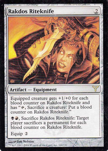 carta magic rakdos riteknife