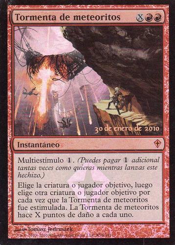 carta magic tormenta de meteoritos foil