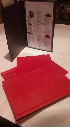 carta  menus para restauran