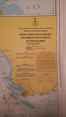 carta náutica uruguay, argentina- marzo 1990