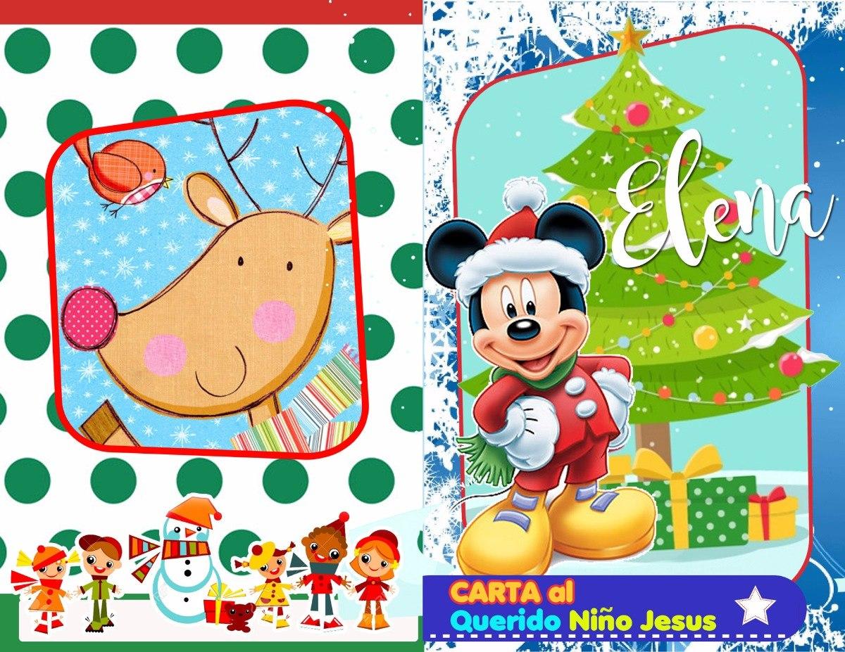 Carta Niño Jesus Navidad Para Colorear Personalizado