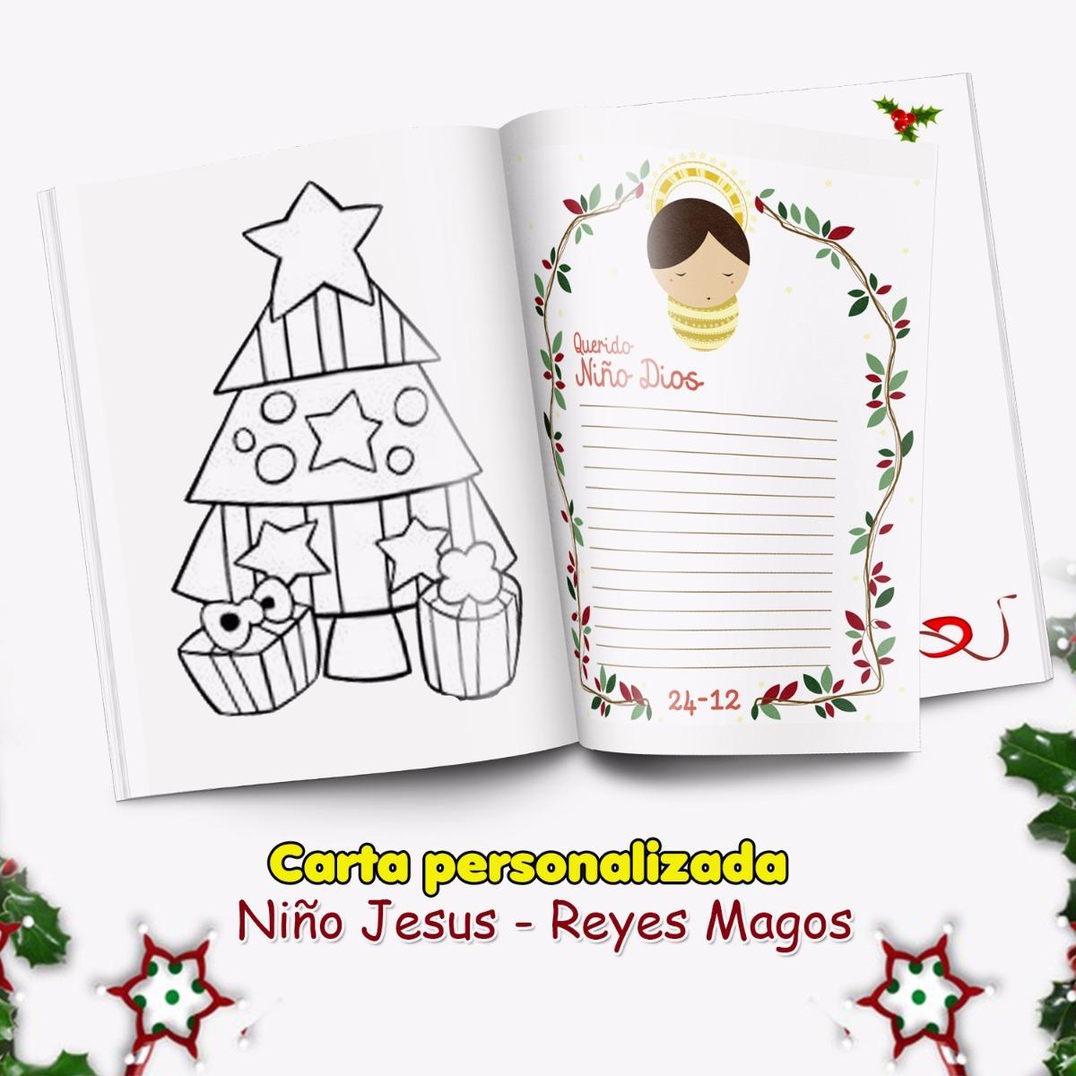 Carta Niño Jesus Navidad Para Colorear Personalizado - Bs. 7.500,00 ...