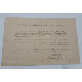 Carta Patente Marinha Assinada Getúlio Vargas Ministro 1939