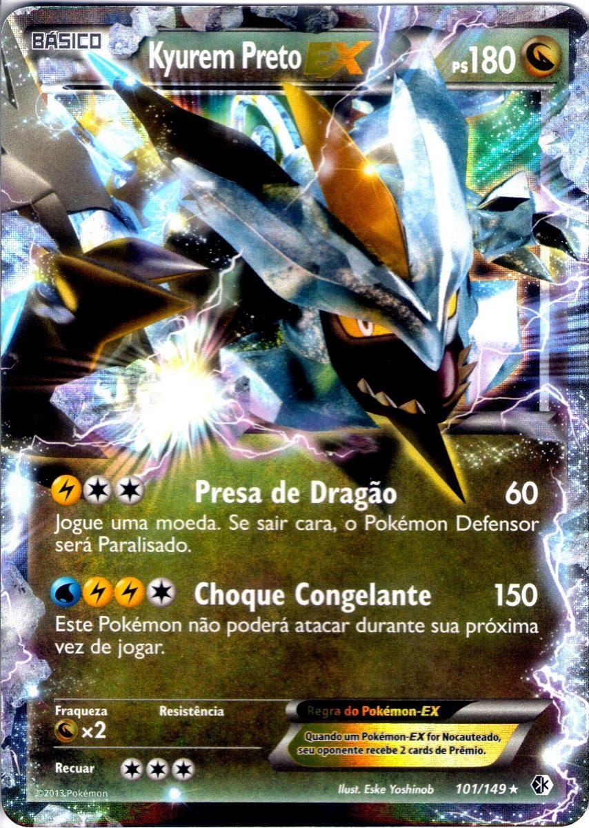 Carta Pokemon Kyurem Preto Ex Portugu 234 S 101 149 Original