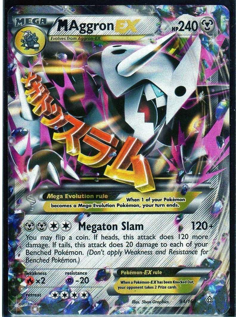 Carta Pokemon Mega Aggron Ex Primal Clash Ingl 234 S R 60