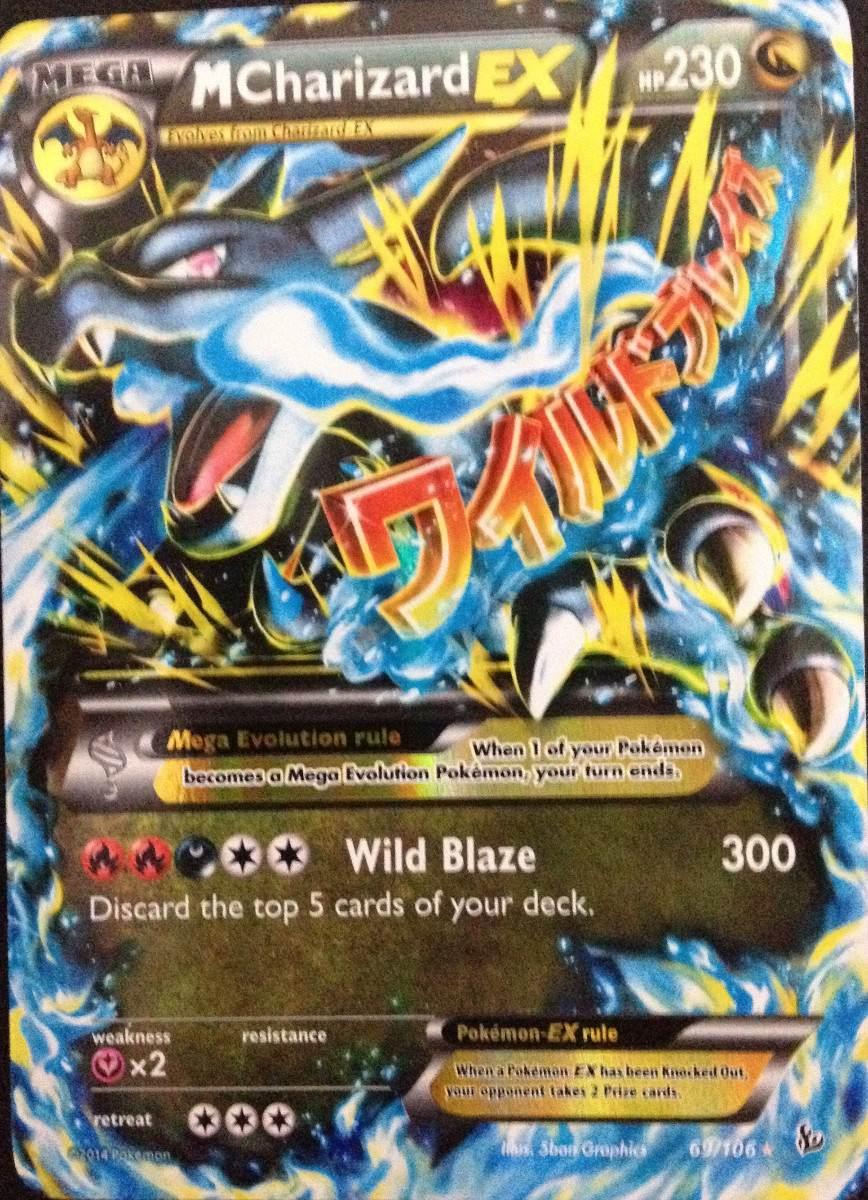 Carta Pokemon Mega Charizard Ex Xy Flashfire Ingl 234 S R