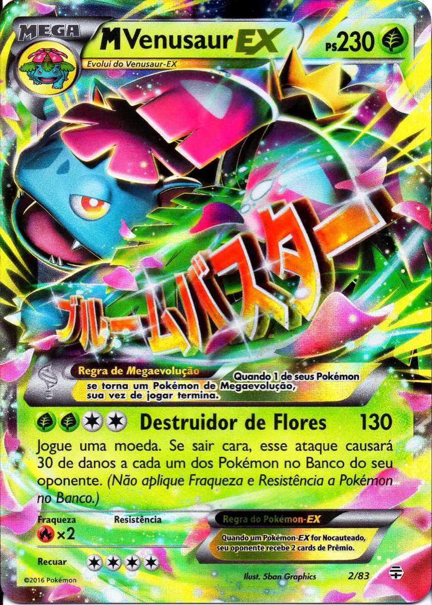 Carta Pokemon Mega Venusaur Ex Gera 231 245 Es 2 83 Portugu 234 S R 29 99 Em Mercado Livre