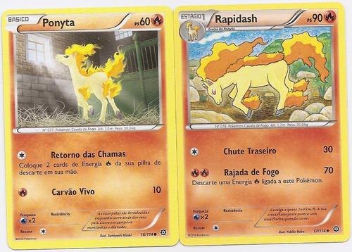 carta pokemon - ponyta/rapidash - cerco de vapor