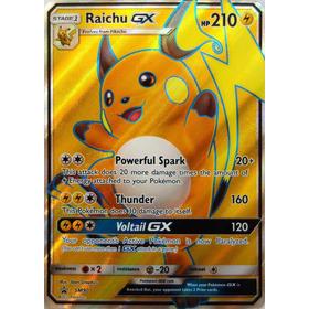 Carta Pokemon Raichu Gx Jumbo Gigante Mint Sobres Boosters O