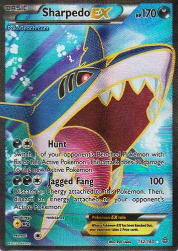 carta pokemon sharpedo ex full art primal clash inglês