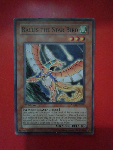 carta rallis the star bird yu-gi-oh