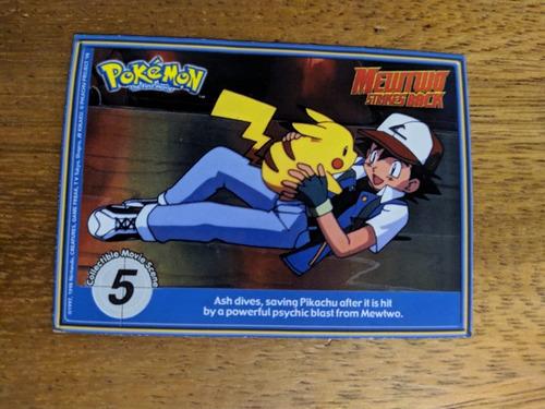 carta tarjeta pokemon mewto strikes back movie 1998