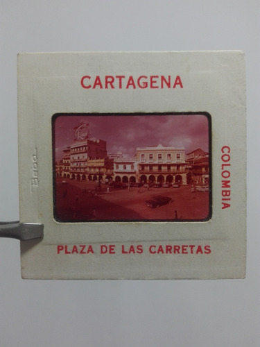 cartagena plaza de las carretas foto antigua diapositiva