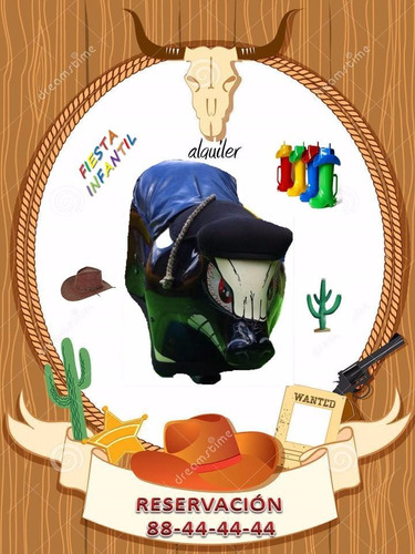cartago, san josé, alajuela toro mecanico inflable golosinas