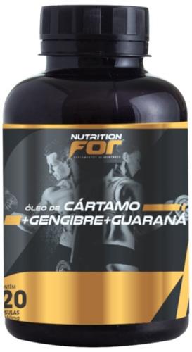 cartamo + gengibre + guaraná 1g 120 cáps caixa c/ 6 potes