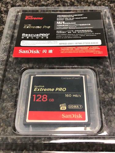 cartao cf compact flash 128gb sandisk extreme pro original