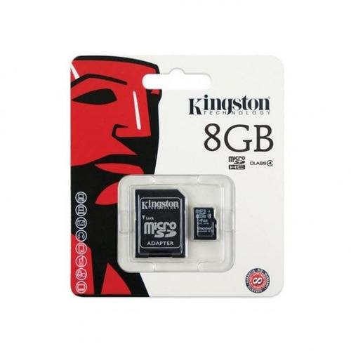 cartao de memoria 8gb sd micro c / adaptador kingston