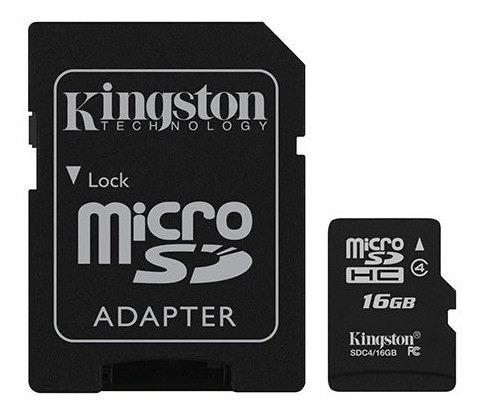 cartao de memoria classe 4 kingston sdc4/16gb micro sdhc 16g