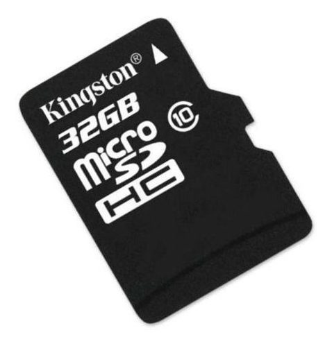 cartao de memoria kingston micro sd 32gb class 10 - preto