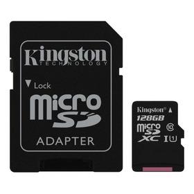 Cartão De Memória Kingston Sdcs Canvas Select Com Adaptador Sd 128gb
