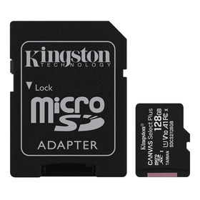 Cartão De Memória Kingston Sdcs2sp Canvas Select Plus Com Adaptador Sd 128gb