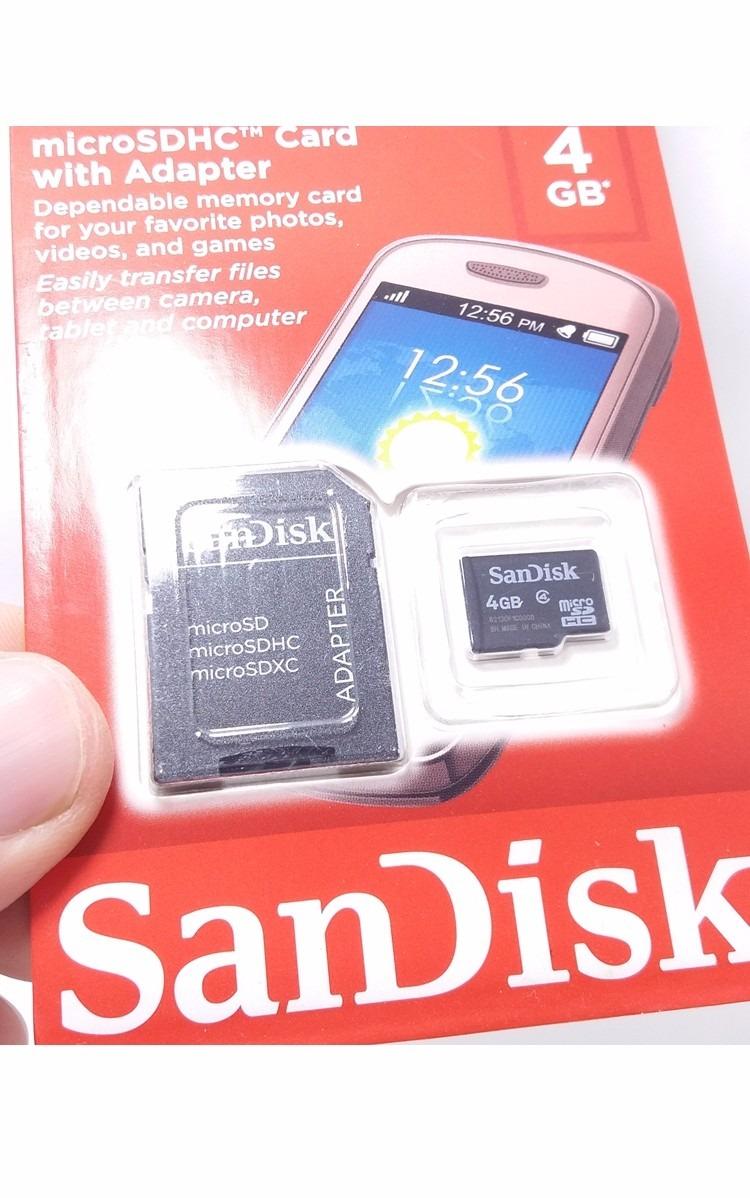 Cartao De Memoria Sandisk 4gb Micro Sd 2x1 R 1899 Em Mercado Livre Microsd 2