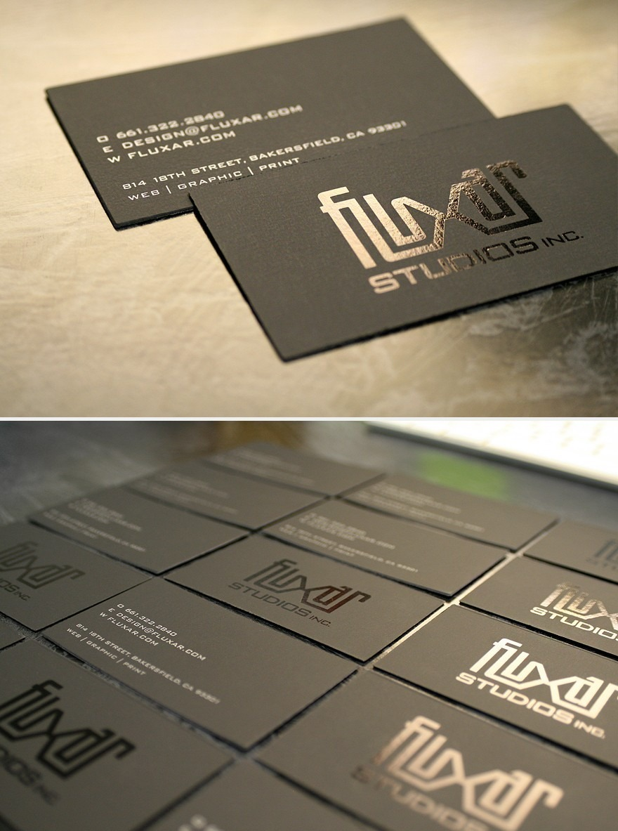 Silver Letter Business Card