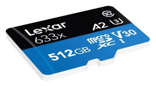 cartao lexar micro sd 512gb 633x sdxc 4k gopro hero 6 7