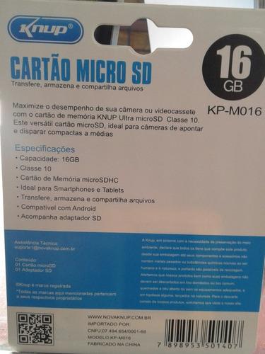 cartao memoria 16gb knup