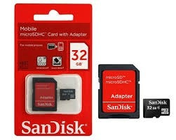 cartao memoria 32gb sandisk original+ adaptador