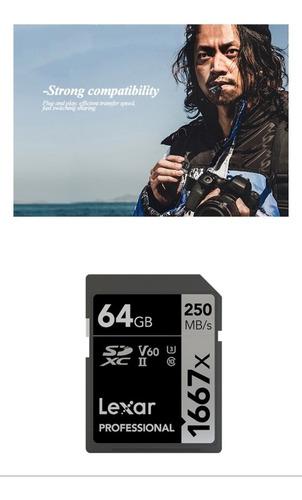cartao memoria 64gb sdxc lsd64gcb1667 250 mb/s com garantia