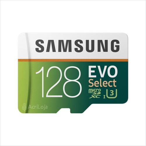 cartao micro sd samsung evo 128gb classe 10 u3 4k - original