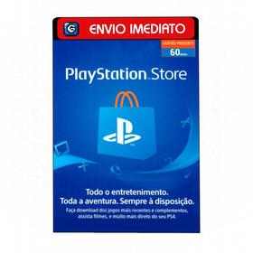 Cartão Playstation Store Brasil Br Brasileira 60 Reais Psn
